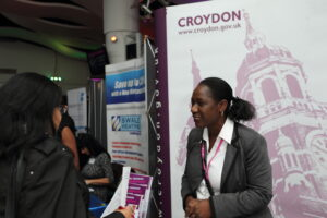 South London Jobs Fair 2014, Fairfield Hall, Park Lane, Croydon. Event run by 3D Change, Airport House, Purley Way, Croydon 0208 781 1813